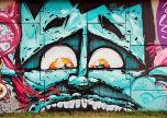 Graffiti blocks street art