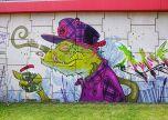 Graffiti lizzard love street art