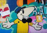 Man and beer street art