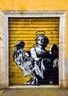 Angel in the door grafitti street art