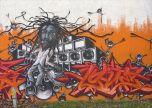 Rasta grafitti tag street art