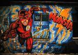 The fastest man street art