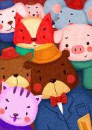 Animal Farm Cute Cartoon