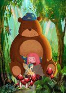 Bear Girl Fairy In The Woods