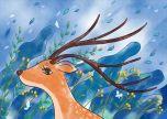 Deer In The Wind Blue Sky