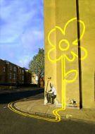 Yellow Flower London Street Art Banksy