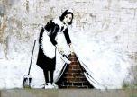 Maid Of London Street Art Graffiti Banksy