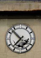 Banksy town clock