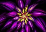 Fractal purple flower