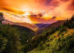 Montana dusk evening amazing sky line