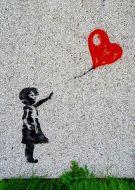 Girl with love banksy love