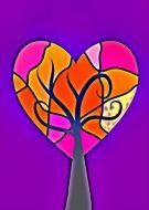 The heart tree love