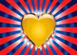 Yellow heart love