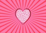 White hearts pink love