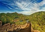 Great wall China lake places