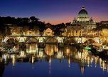 Rome Vatican City Italy Tiber St Peter's Basilica