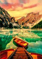 Lake In Italy jetty boats