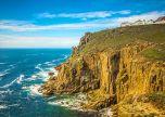 Lands end Rock Ocean Cornwall uk