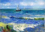 Post Impressionism Blue painting seascape