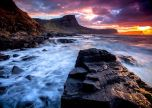Sea coastline rocks sky landscape