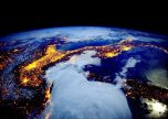 Space view earth