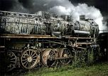 Steam train graveyard Locomotive Train