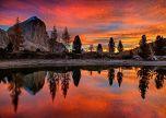 Lago Di Limides Dolomites Alpine Italy Mountains-trees
