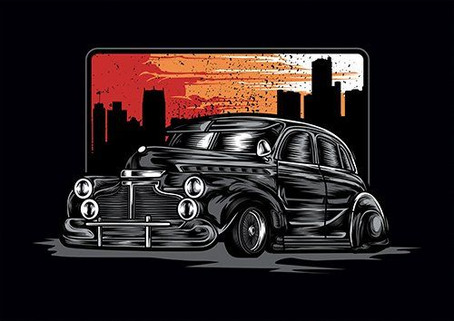 Classic Cars TA - From £17.50 | Metal Plate Pictures
