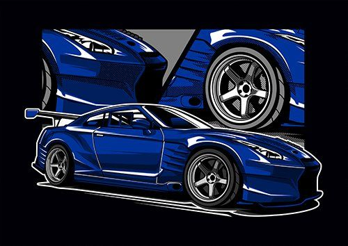Blue Gtr ARDH - From £17.50 | Metal Plate Pictures