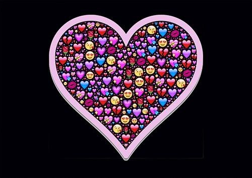 Emoji heart pink love - From £17.50 | Metal Plate Pictures