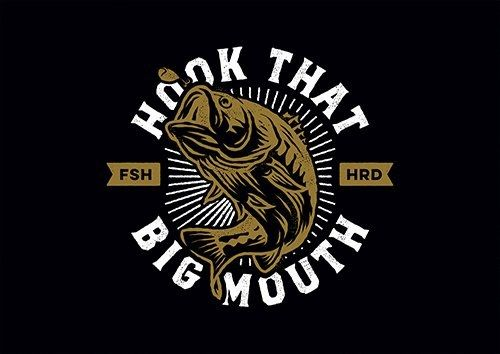 Hook That Big Mouth Fish D666 - From £17.50 | Metal Plate Pictures