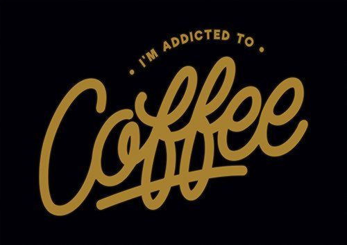 Addicted To Coffee, Sandy\Brown\Blue\Mix colour, X-Large A1 24x36Inch size - From £17.50 | Metal Plate Pictures