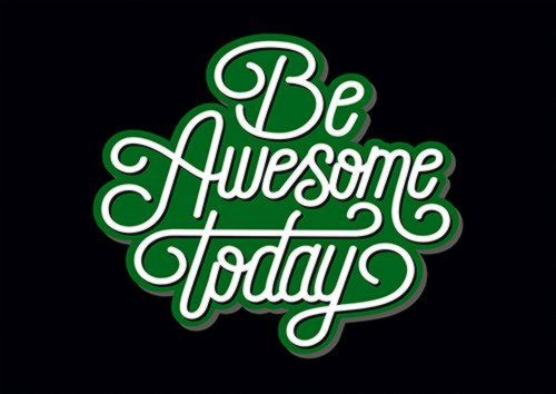 Be Awesome Today Ari, Sandy\Brown\Blue\Mix colour, X-Large A1 24x36Inch size - From £17.50 | Metal Plate Pictures