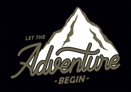 Let The Adventure Begin Ari, Sandy\Brown\Blue\Mix colour, X-Large A1 24x36Inch size - From £17.50 | Metal Plate Pictures