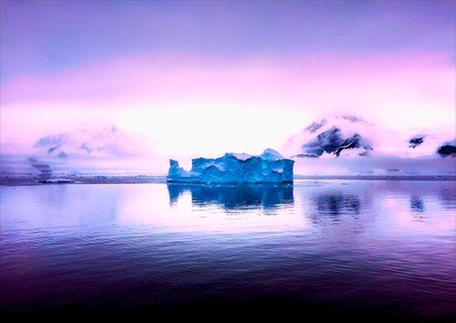 Antarctica-Ice, Black colour - From £17.50 | Metal Plate Pictures