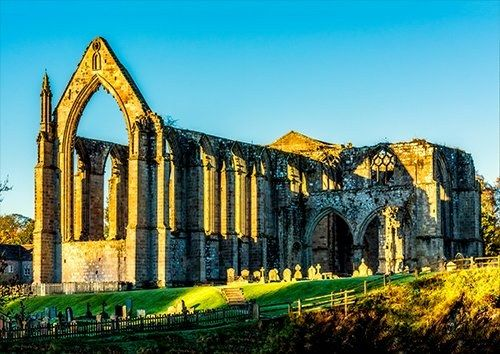 Bolton abbey uk, Black colour - From £17.50 | Metal Plate Pictures