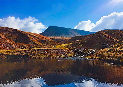 Brecon beacons, Black colour - From £17.50 | Metal Plate Pictures