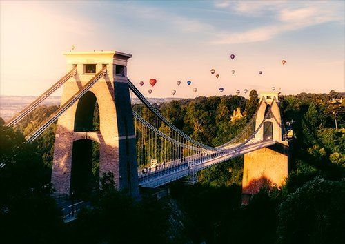 Bristol bridge, Black colour - From £17.50 | Metal Plate Pictures