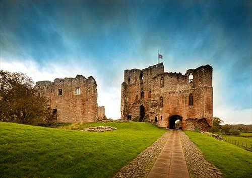 Brougham castle UK, Black colour - From £17.50 | Metal Plate Pictures