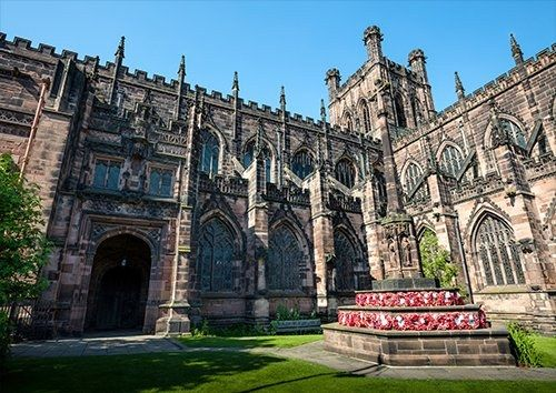 Chester cathedral uk, Black colour - From £17.50 | Metal Plate Pictures