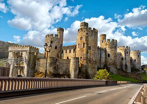 Conway Castle Llundudno Wales UK, Black colour - From £17.50 | Metal Plate Pictures