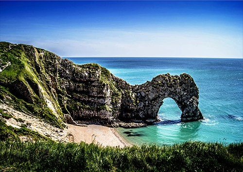Durdle door day time, Black colour - From £17.50 | Metal Plate Pictures