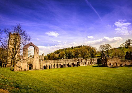 Fountains abbey UK, Black colour - From £17.50 | Metal Plate Pictures