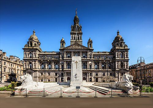 Glasgow city chambers UK, Black colour - From £17.50 | Metal Plate Pictures