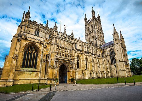 Gloucester cathedral UK, Black colour - From £17.50 | Metal Plate Pictures