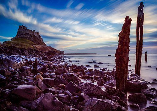 Holy Island UK, Black colour - From £20.50 | Metal Plate Pictures