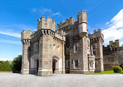 Lake District Castle UK, Black colour - From £17.50 | Metal Plate Pictures