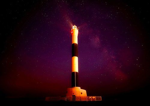 Lighthouse in Kent, Black colour - From £17.50 | Metal Plate Pictures