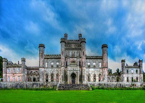 Lowther castle UK, Black colour - From £17.50 | Metal Plate Pictures