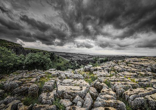 Malham cove England, Black colour - From £17.50 | Metal Plate Pictures